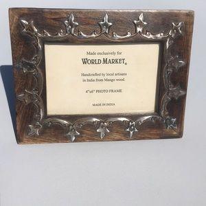 World Market 4x6 Wood Photo Frame